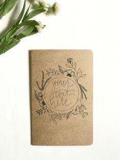 Custom Travel Journal, Handwritten Notebook, Personalized Kraft Journal, Custom Brown Paper Journal,