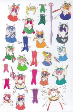 My Sailor Moon paper dolls - scanny3 - Picasa 웹앨범