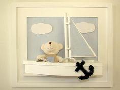 Quadro urso no barco