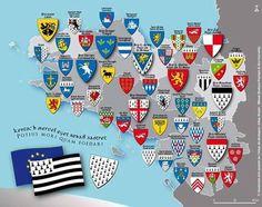 Bretagne héraldique Little Britain, Great Britain, Celtic Nations, Family Shield, Irish Warrior, Italian Army, Celtic Culture, Patch Design, Family Crest