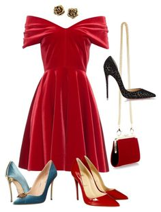 """""""Oh, Velvet!!!"""" by la-harrell-styling-co on Polyvore featuring Balmain, Emilio De La Morena, Christian Louboutin, Dsquared2 and Tiffany & Co."""