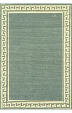 Rugs USA Porch Outdoor Greek Key Moss Rug. 4th of July Sale BEGINS! 80% OFF for all Rug USA Products! Area rug, carpet, design, style, home decor, interior design, pattern, trend, statement, summer, cozy, sale, sale, discount, free shipping.