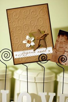 Clean design with lovely embossed kraft...