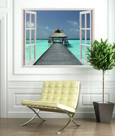 Wall Stickers Relax at sea Punta Cana, Wall Stickers Window, Window Wall, Relax, Outdoor Chairs, Outdoor Furniture Sets, Outdoor Decor, Textures Murales, Stair Walls