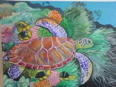 turtle painting by Julie Markides