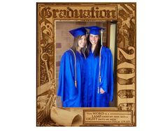 "Graduation Psalm 2- Graduation Frame: Artistically crafted from rich, natural alder wood with high school or college graduation year and the inspired Words of Psalm 119:105, ""Thy Word is a lamp unto my feet, and a light unto my path"", this engraved wooden frame will make a unique graduation gift that will be treasured for years to come. Item# sch0040"