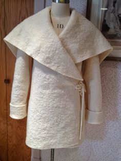 An easy to make boiled wool coat pattern from Sew News.