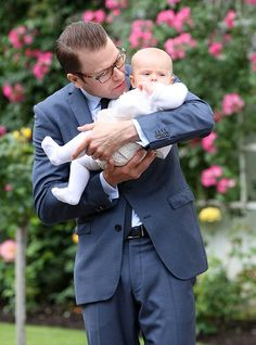 Princess Estelle of Sweden turns two: a gallery of her cutest moments - Photo 3 | Celebrity news in hellomagazine.comDaniel holds Estelle during Victoria's 35th birthday celebrations