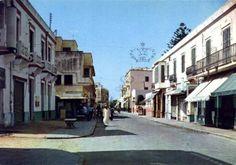 Larache CALLE CHINGUITI . ANTES Hassan II Street View, Gardens, Morocco, Street, Cities, Spanish