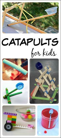 """Geronimo! Check out these 14 fun catapults for kids to build and learn with! (via """"Fun-A-Day"""")"""