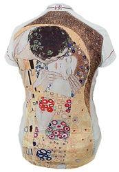 Klimt meets cycling jersey. I love art in motion.