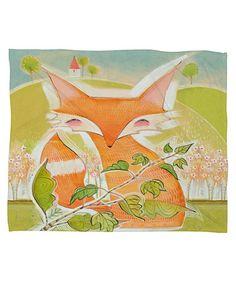 Love this Little Fox Fleece Blanket on #zulily! #zulilyfinds