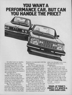 Volvo 242 GT Ad #Volvo #242 #GT #242GT #Ad #Advertisement #Vintage #Retro #Classic