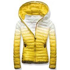 Dámská jarní podzimní bunda Taboon žlutá – žlutá – módní prošívaná bunda v  zajímavém barevném a18c9affa5