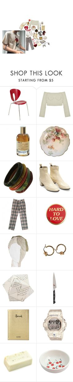 """""""Untitled #2184"""" by flapper-shoes ❤ liked on Polyvore featuring Stua, Le Labo, Pierre Hardy, Burberry, WALL, Dot & Bo, Harrods and Baby-G"""