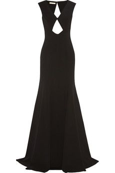 Michael Kors Cutout stretch-wool gown | NET-A-PORTER