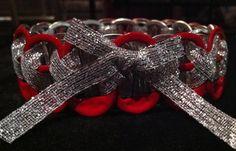 Stretch Coke Tab Bracelet- Red and Silver. $8.00, via Etsy.