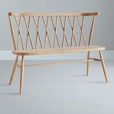 ercol for John Lewis Chiltern Dining Bench, Light Wood, Light Wood ercol for John Lewis Chiltern Bench Ercol Furniture, Shaker Furniture, Bar Furniture, Home Office Furniture, Furniture Design, Chair Design, Muebles Art Deco, Chaise Vintage, Chair Bench