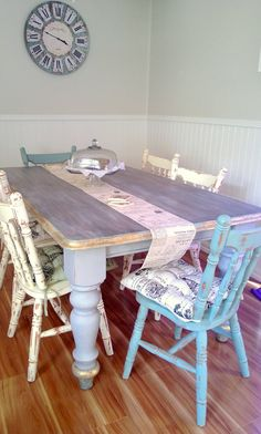 Shabby Chic Rustic Dining Table and by RusticBoutiqueDecor on Etsy, $750.00