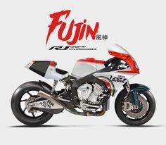 """Racing Cafè: Racing Concepts - Yamaha """"Fujin"""" by Speed Junkies Yamaha R1, Yamaha Cafe Racer, Yamaha Motorcycles, Cafe Racer Motorcycle, Motorcycle Design, Motorcycle Style, Bike Design, Custom Motorcycles, Cafe Racers"""