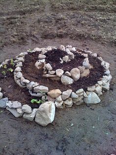 spiral garden - good for a Katie garden, maybe with herbs and flowers