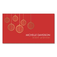 elegant gold paper lanterns iii for event planner business card - Wedding Planner Business Cards
