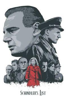 "Schindler's List - Steven Holliday ---- Art featured in Hero Complex Gallery's ""Imagined Worlds -- tr Spielberg, Jackson, Nolan, Carpenter, and Cameron Beau Film, Film Poster Design, Movie Poster Art, Best Movie Posters, Schindlers Liste Film, Schindler's List Movie, Liam Neeson, Cinema Posters, Alternative Movie Posters"
