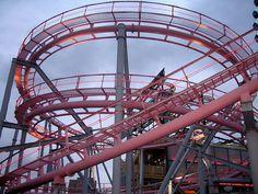 pink roller coaster