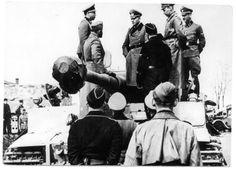 Heinz Guderian Visiting Tiger Company of SS Leibstandarte