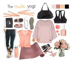"""The nude yogi"" by cocolacoquette ❤ liked on Polyvore featuring NIKE, Czech & Speake, Victoria's Secret, Lija, STELLA McCARTNEY, CamelBak, Essie, Topshop, ChloBo and yoga"