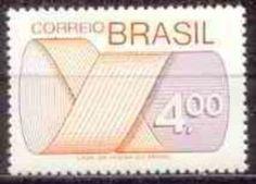 Sello: Stamp (Brasil) (Mark Post and Emblem) Mi:BR 1482,Sn:BR 1259,Yt:BR 1174,RHM:BR 554