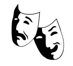 comedy and tragedy masks free clip art taller de teatro campo de rh pinterest com theatre mask clipart free theater mask clipart