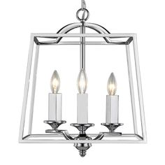 Shop for Golden Lighting Athena Chrome 3-light Pendant. Get free shipping at Overstock.com - Your Online Home Decor Outlet Store! Get 5% in rewards with Club O! - 20014610