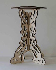 Laser cut wood wedding center piece by ellenstarr on Etsy, $75.00