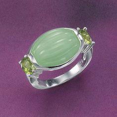 I love green jade.  And Peridot..my birthday  stone gem.