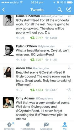 Everyone was so sweet about Crystal leaving. I was impressed by Daniel's message considering she is his ex-girlfriend.