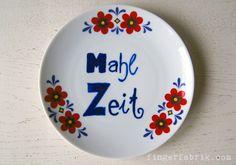 DIY tutorial: upcycling old plates  ♥ ceramic marker