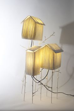 sculptures_lumineuses -- Cabanons trio, 2012 (Garden sheds trio, 2012) by Sophie Mouton-Perrat and Frederic Guibrunet