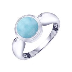 Sparkle like the Caribbean Sea! MarahLago, the first name in Larimar jewelry, matches elegance with style in this shining sterling silver and Larimar ring.