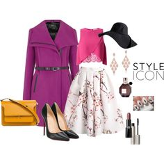 Purple Coat by wevinka on Polyvore featuring Miss Selfridge, Mackage, Christian Louboutin, Marni, Anne Sisteron, Ilia, Giorgio Armani, Viktor & Rolf and Disney