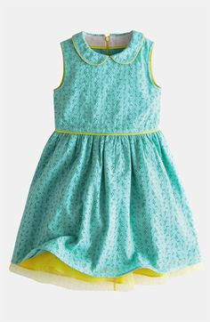 LOVE this dress!  Looks easy enough to make! Mini Boden Eyelet Dress available at Nordstrom $60