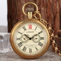 Antique Copper London 1856's Pocket Watch ❤️ Pin it please on your board