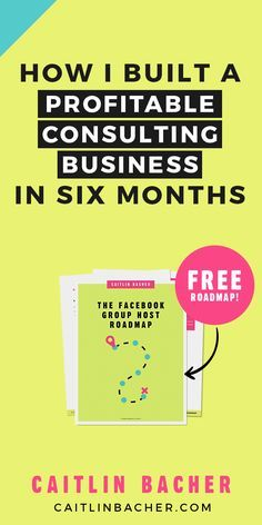 How I built a profitable consulting business in six months. Business Tips | Social Media Tips | Facebook Groups | caitlinbacher.com
