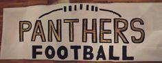 Panther football run through sign