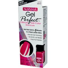 Nutra Nail 5 minute Gel-Color Manicure. 5 Minute Manicure COLOR:12754 ORCHID PINK. Lasting patent leather Shine. Removes with acetone polish remover. Sets rock in 5 minutes. No UV/LED Light needed! | eBay!