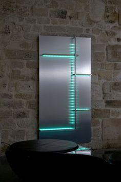 Pannello decorativo / in alluminio / da parete / spazzolato CITY Octavio Amado