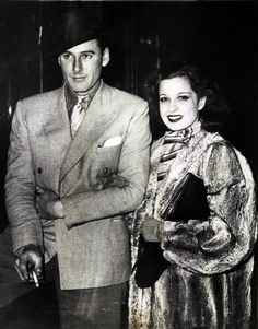 Errol Flynn and his first wife, Lili Damita. (although I shouldn't be putting this in my fave people board because we all know Lili is far from ever being one)