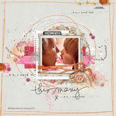 great #valentines #scrapbook inspiration from carolynn at DesignerDigitals.com