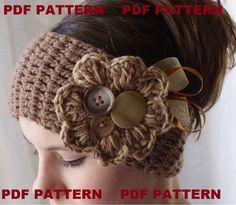 PDF PATTERN crochet headband earwarmer by threemagicsheep on Etsy