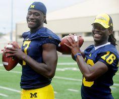 Devin Gardner & Denard Robinson, University of Michigan Football